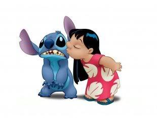 картинки мультяшки поцелуй